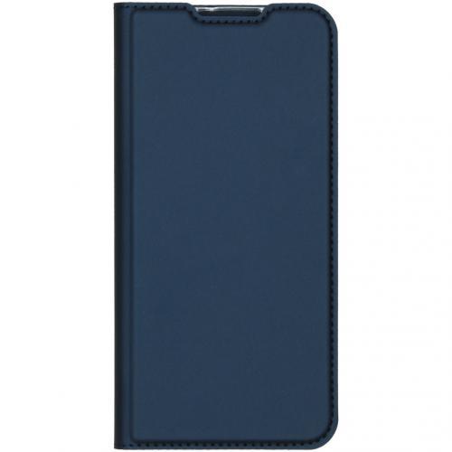 Slim Softcase Booktype voor de Motorola One Zoom - Donkerblauw