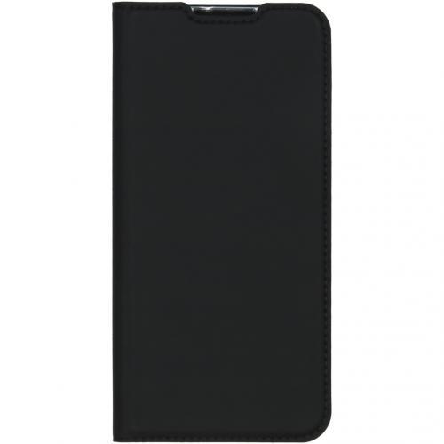 Slim Softcase Booktype voor de Motorola One Zoom - Zwart