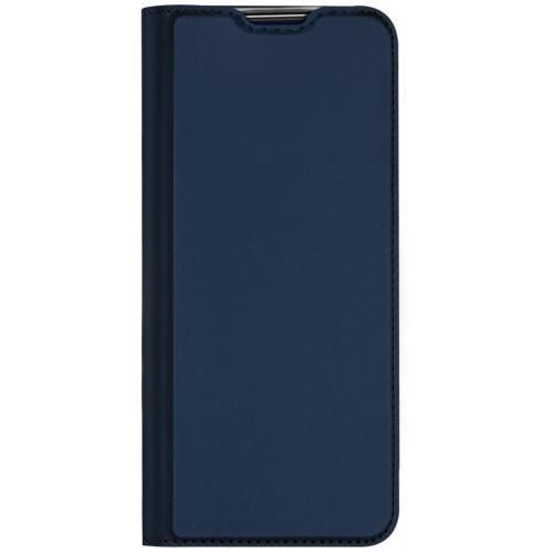 Slim Softcase Booktype voor de Nokia 3.4 - Donkerblauw