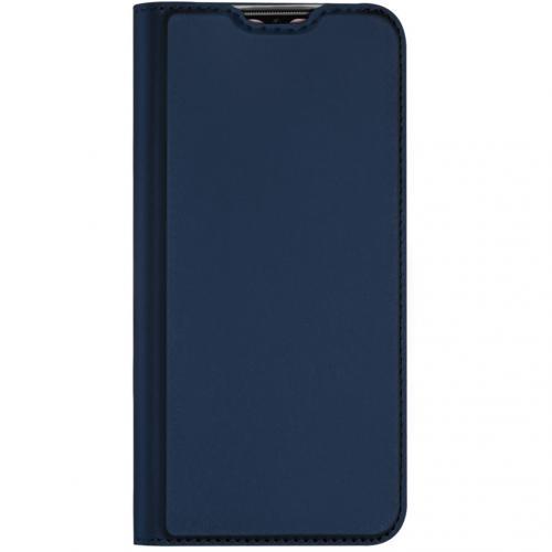 Slim Softcase Booktype voor de OnePlus 7T - Donkerblauw