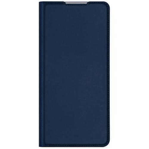 Slim Softcase Booktype voor de OnePlus Nord - Donkerblauw