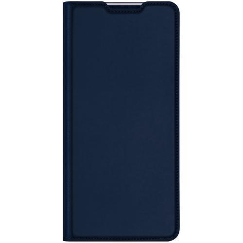 Slim Softcase Booktype voor de OnePlus Nord N10 5G - Donkerblauw