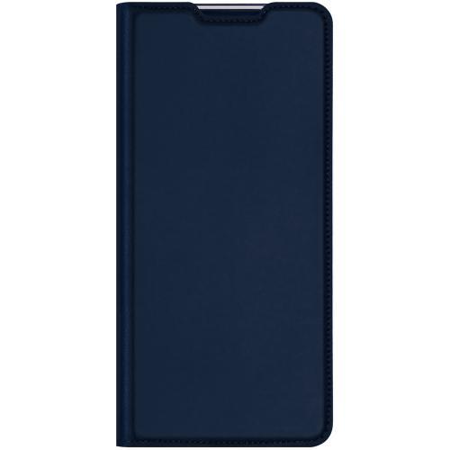 Slim Softcase Booktype voor de OnePlus Nord N100 - Donkerblauw