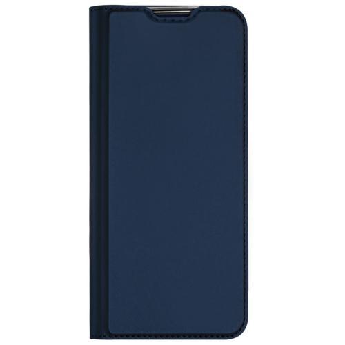 Slim Softcase Booktype voor de Oppo A73 (5G) - Donkerblauw
