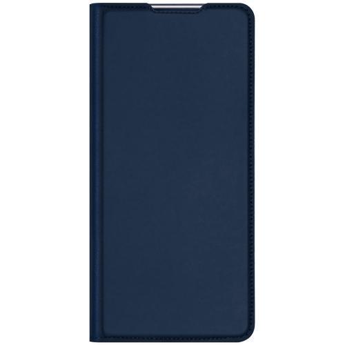 Slim Softcase Booktype voor de Oppo Find X2 Pro - Donkerblauw