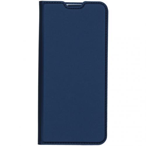 Slim Softcase Booktype voor de Oppo Reno4 5G - Donkerblauw