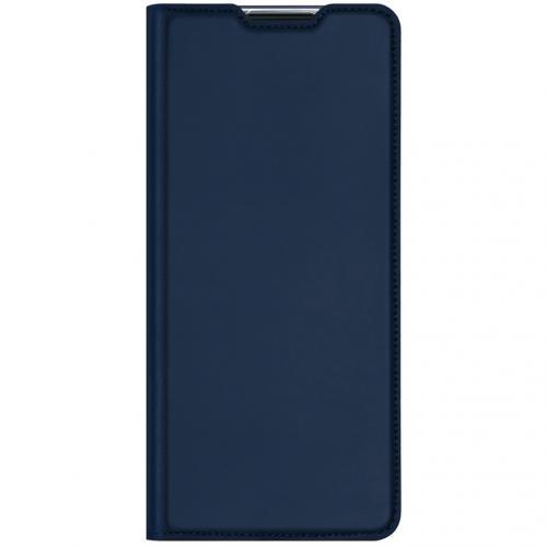 Slim Softcase Booktype voor de Oppo Reno4 Pro 5G - Donkerblauw