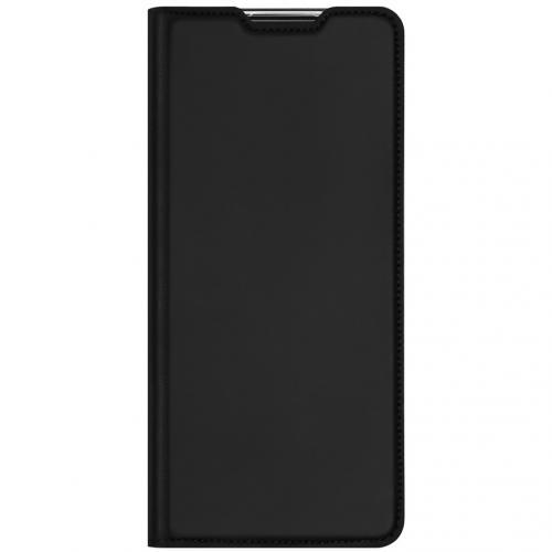 Slim Softcase Booktype voor de Oppo Reno4 Pro 5G - Zwart