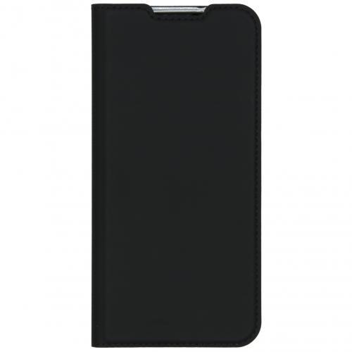 Slim Softcase Booktype voor de Redmi Remdi Note 8T - Zwart