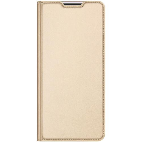 Slim Softcase Booktype voor de Samsung Galaxy A21s - Goud