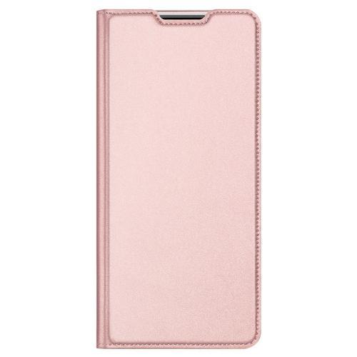 Slim Softcase Booktype voor de Samsung Galaxy A42 - Rosé Goud