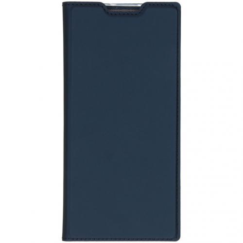 Slim Softcase Booktype voor de Samsung Galaxy Note 10 Plus - Donkerblauw