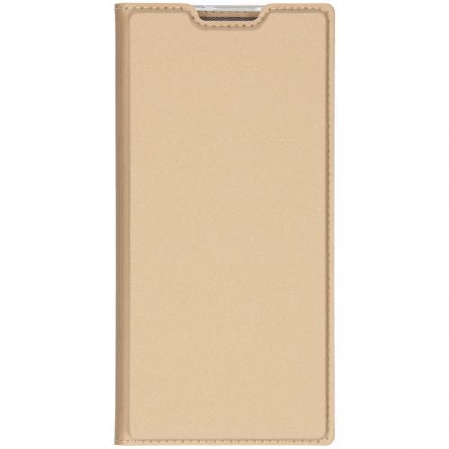 Slim Softcase Booktype voor de Samsung Galaxy Note 10 Plus - Goud