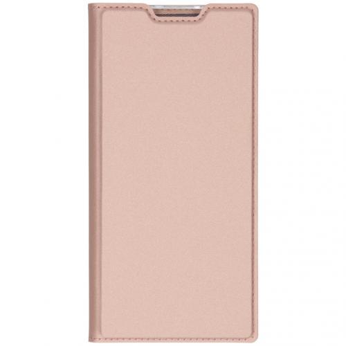 Slim Softcase Booktype voor de Samsung Galaxy Note 10 Plus - Rosé Goud