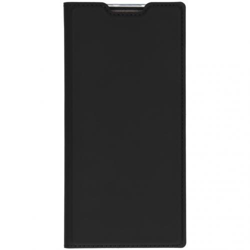 Slim Softcase Booktype voor de Samsung Galaxy Note 10 Plus - Zwart