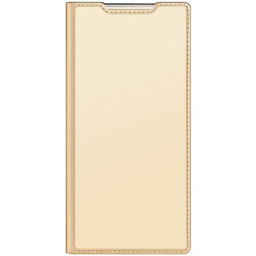 Slim Softcase Booktype voor de Samsung Galaxy Note 20 Ultra - Goud