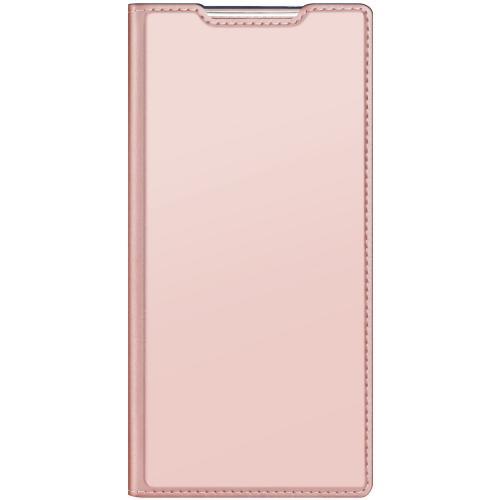 Slim Softcase Booktype voor de Samsung Galaxy Note 20 Ultra - Rosé Goud