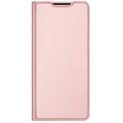 Slim Softcase Booktype voor de Samsung Galaxy S21 Ultra - Rosé Goud