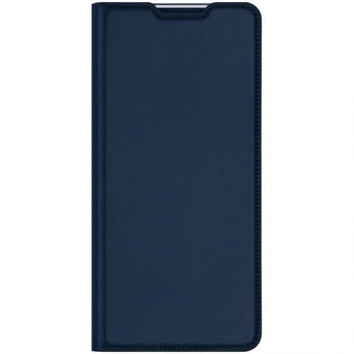 Slim Softcase Booktype voor de Xiaomi Poco F2 Pro - Donkerblauw
