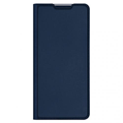 Slim Softcase Booktype voor de Xiaomi Redmi Note 10 Pro - Donkerblauw