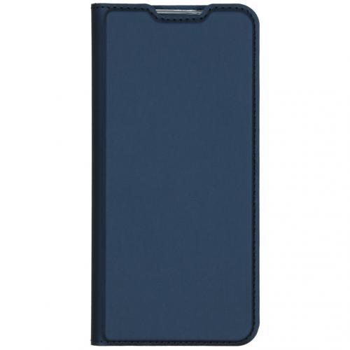 Slim Softcase Booktype voor de Xiaomi Redmi Note 8 - Donkerblauw
