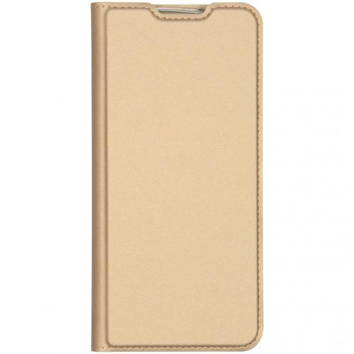 Slim Softcase Booktype voor de Xiaomi Redmi Note 8 - Goud