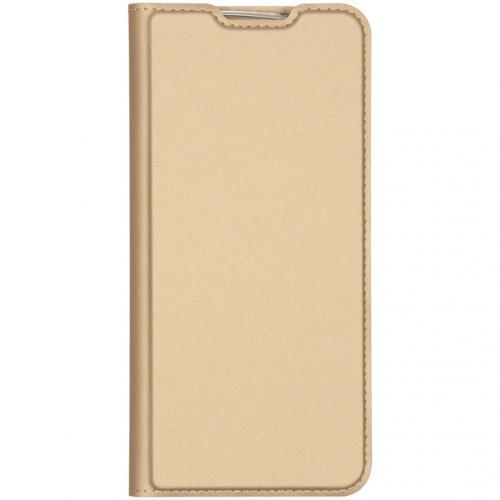 Slim Softcase Booktype voor de Xiaomi Redmi Note 8 - Goud