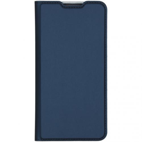 Slim Softcase Booktype voor de Xiaomi Redmi Note 8 Pro - Donkerblauw