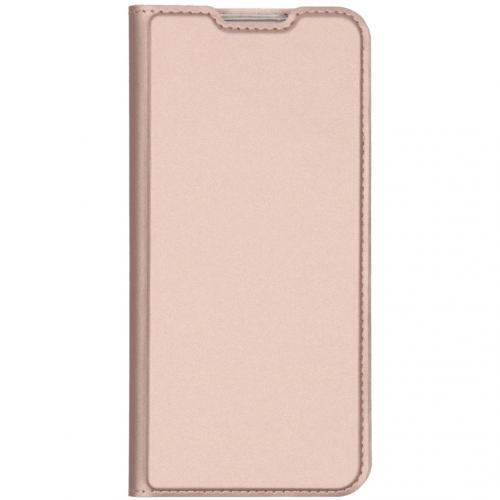 Slim Softcase Booktype voor de Xiaomi Redmi Note 8 - Rosé Goud