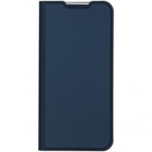 Slim Softcase Booktype voor de Xiaomi Redmi Note 8T - Blauw