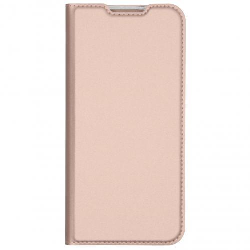 Slim Softcase Booktype voor de Xiaomi Redmi Note 8T - Rosé Goud