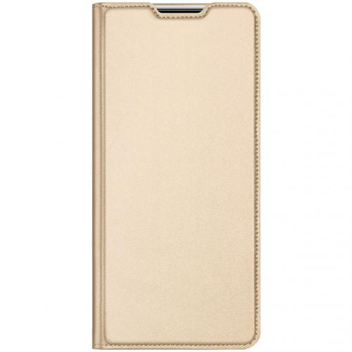 Slim Softcase Booktype voor de Xiaomi Redmi Note 9 - Goud