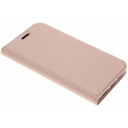 Slim Softcase Booktype voor iPhone X / Xs - Rosé goud