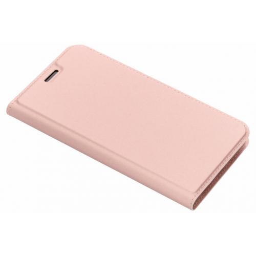 Slim Softcase Booktype voor iPhone Xr - Rosé goud