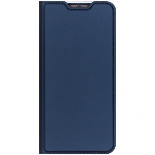 Slim Softcase Booktype voor OnePlus 7 - Blauw