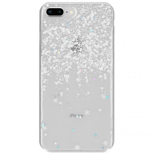 Snowflake Softcase Backcover voor de iPhone 8 Plus / 7 Plus - Wit