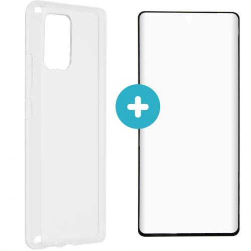 Softcase Backcover + Glass Screenprotector voor de Samsung Galaxy S10 Lite