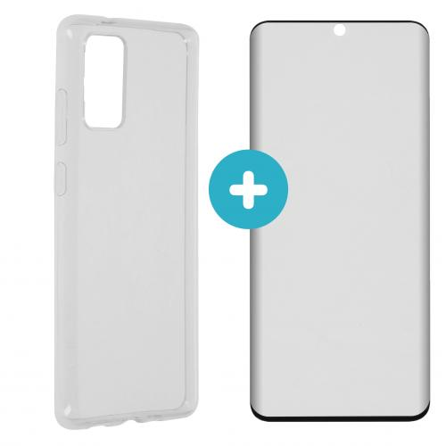 Softcase Backcover + Premium Screenprotector voor Samsung Galaxy S20 Plus