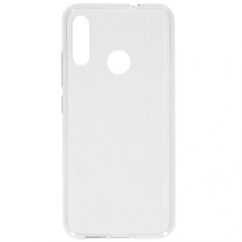 Softcase Backcover voor de Motorola Moto E6 Plus - Transparant