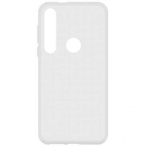 Softcase Backcover voor de Motorola Moto G8 Plus - Transparant