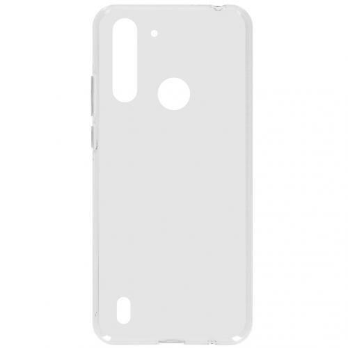 Softcase Backcover voor de Motorola Moto G8 Power Lite - Transparant