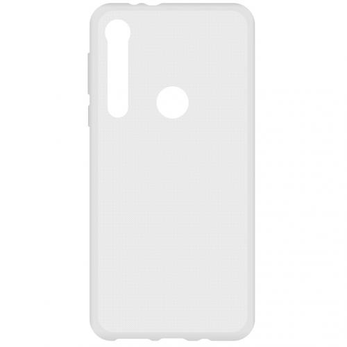 Softcase Backcover voor de Motorola One Macro - Transparant