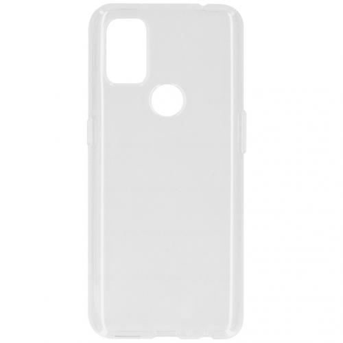 Softcase Backcover voor de OnePlus Nord N10 5G - Transparant