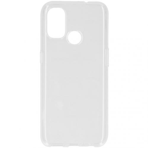 Softcase Backcover voor de OnePlus Nord N100 - Transparant