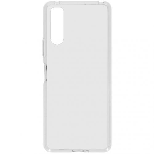 Softcase Backcover voor de Sony Xperia 10 II - Transparant