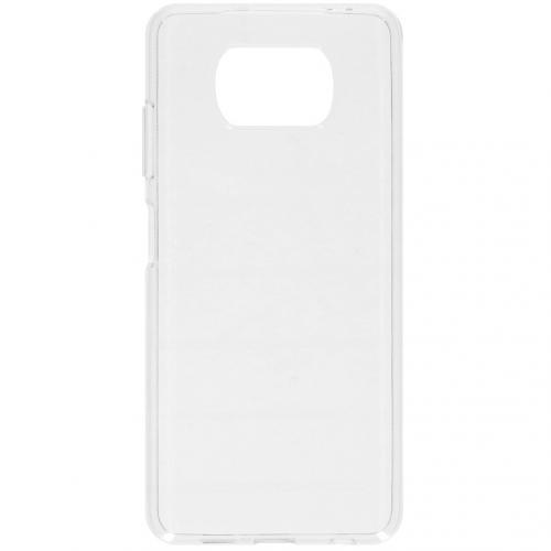 Softcase Backcover voor de Xiaomi Poco X3 - Transparant