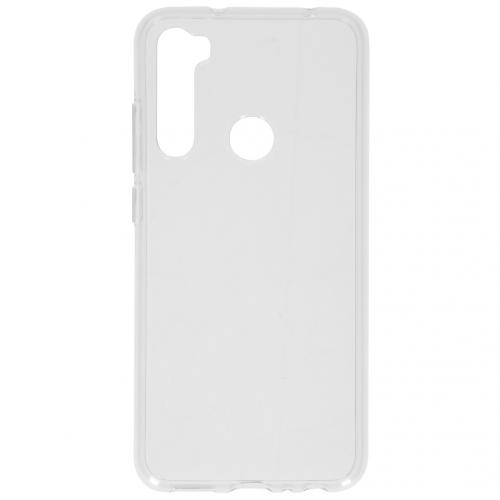 Softcase Backcover voor de Xiaomi Redmi Note 8 - Transparant