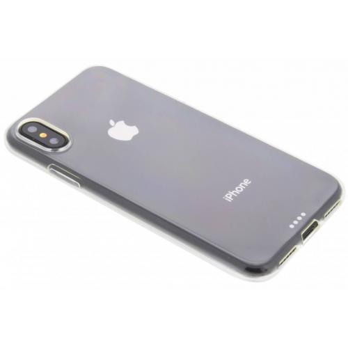 Softcase Backcover voor iPhone X / Xs - Transparant