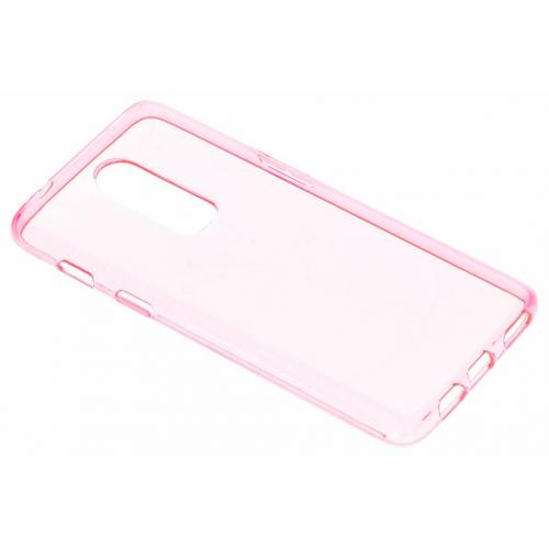 Softcase Backcover voor OnePlus 6 - Roze