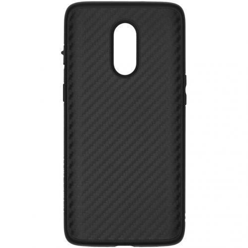 SolidSuit Backcover voor de OnePlus 7 - Carbon Fiber Black